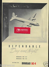 DOUGLAS AIRCRAFT 1946 DEPENDABLE DAY AND NIGHT WHENEVER-WHEREVER YOU FLY AD