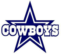 Dallas Cowboys Vinyl Decal/Sticker - 5.5 Inches - Blue - Set of 2 Decals