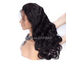 Body Wave Lace Front Remy Hair Wigs Peruvian+Baby Hair 130% Density Pre Plucked