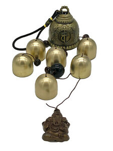 Buddha Bell Amulet Wind Chime Ganesh Wealth Luck Six Bells