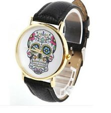 Retro Geek Skull Gothic Unusual Mens Womens Wrist Watch FREE P&P XMAS