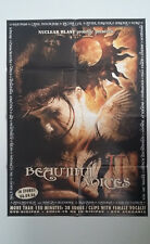BEAUTIFUL VOICES II Promotional Poster Nuclear Blast 2006 Arch Enemy Epica