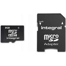 Integral Micro SD Card 8GB with SD Adapter Class 10