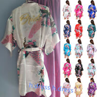 Satin Personalized Peacock Wedding Robe Bridesmaid Bride Mother Dressing Gown