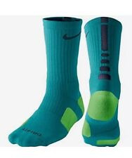 Nike Elite Cushioned Crew Basketball Socks SX3629-344 Emerald Men's Size 8-12