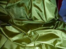 """1 MTR OLIVE GREEN POLYESTER SILK  LINING FABRIC..44"""" WIDE"""