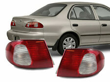 JDM Red / Clear Rear Outer Pair Rear Brake Tail Lights for 98-02 Toyota Corolla