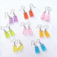 1 Pair Cute Mini Gummy Bear Earrings Minimalism Cartoon Female Ear Hooks Dangler