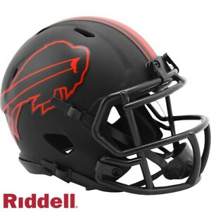 Black Eclipse Mini Football Helmet - NFL - Buffalo Bills