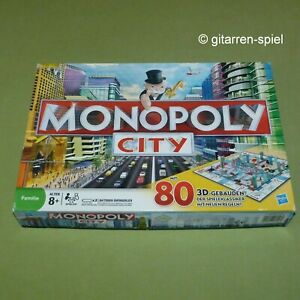 Monopoly City - Komplett 1A Top! mit 3D Gebäuden & Elektronischem Makler Hasbro