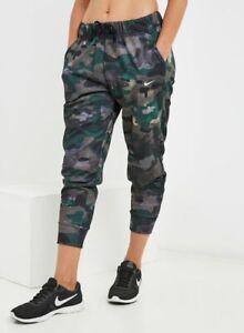 Nike Dry Women's Rebel Camo 7/8 Pants Size Medium Green Camo CD5414-723