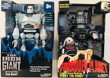 Iron Giant & Robby The Robot Walking Talking Light Up Figures Walmart Exclusives