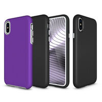 Handy Schutz Hülle für Apple iPhone X XS Anti-Rutsch Hybrid Case Bumper Cover