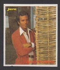 Julio Iglesias Vintage Joepie Sticker Card C Pop Music Singer