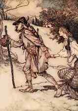 A4 Foto los cuentos de hadas de los hermanos Grimm 1909 12 impreso Poster