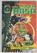 HEROES MARVEL PRESENTA: LA SALVAJE MUJER MASA - Nº 4 MUNDICOMICS  VERTICE  1982