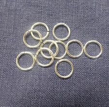 Sterling Silver 8mm Open Jump Rings x 20 Medium weight 0.9mm thickness