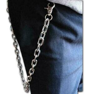 Men Women Silver Metal Wallet Chain Jeans Biker Rocker Links F5X3 B Chunky G1M8
