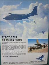 11/1993 PUB IPTN CASA CN-235 MIL AIRPLANE PARATROOPS PARA MEDEVAC ORIGINAL AD