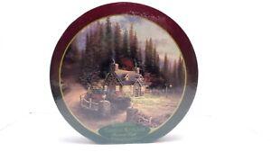 "Thomas Kinkade Pine Cove Cottage Jigsaw puzzle 750 piece 24"" round puzzle"