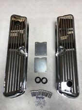 Small Block Ford Valve Covers Ball Milled Tall CHROME 289 302 350 SBF