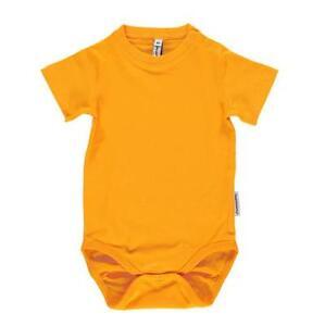 New Maxomorra Orange Short Sleeved Bodysuit Baby Vest 44 50 56 80 86 92