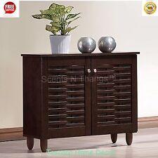 Shoe Cabinet Storage Modern Organizer Contemporary Brown Rack Wood Furniture