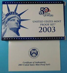 2003 U.S. PROOF set in original Mint Holders - Proof -  San Francisco mint