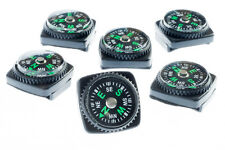 6x Mini Liquid Filled Watchband Compass Slide On Watch Wristbands Camping Hiking