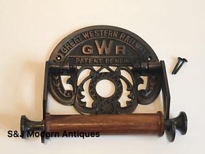 Victorian Toilet Roll Holder Unusual Retro Novelty GWR Vintage Copper Bronze Old