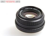 Pentax-M f1.7 50mm SMC Mount Lens. Graded: LN- [#8503]