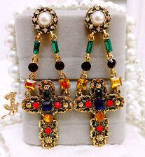 Anthropologie Multi-Coloured Costume Earrings