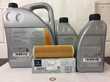 Genuine Mercedes-Benz W204 C-Class C180K C200K Oil Filter & 7L Engine Oil OM271