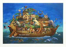 Hala Wittwer A WORK OF ARK CANVAS Signed & Numbered w/coa Noah's Ark Art Print