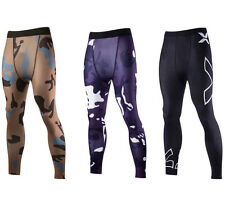 Mens Sports Gym Skin Tights Trousers Compression Base Pants Athletic Apparel UK