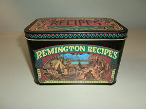 Remington Collection of Outdoor and Game Recipe Cards and Tin 1970's Vintage NOS