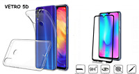 Custodia per HUAWEI HONOR 10 LITE / HONOR 10i cover GEL + PELLICOLA vetro FULL