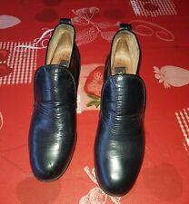 Original Boos Schnür Schuhe Halbschuhe Feinstes Leder Stoff