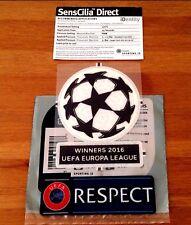2016 Sevilla UCL Honour EUROPA WINNERS 2016 SportingiD SensCilia Patch Set