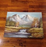 Inspired by Bob Ross Oil Painting Signed Sara Original on 12x16 Canvas.