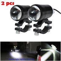 2X CREE LED U1 Lens Motorcycle Headlight Driving Fog Light Spot Lamp & Switch US