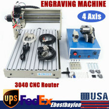 New Listing4 Axis 3040 Cnc Router Engraving Machine Desktop Engraver Drilling Mill Machine