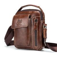 Men's Genuine Leather Business Messenger Shoulder Bag Travel Satchel Handbag !