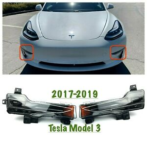Fit for 2017-2020 Tesla Model 3 Front RH and LH Turn Light Fog Lamp Base New