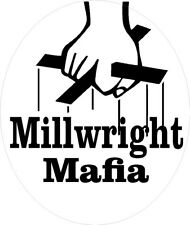 Millwright mafia hard hat sticker, CMW-20