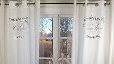 Vorhang MAJE ROSA Gardine 120x240  2 Stück LillaBelle Shabby Landhaus Curtain