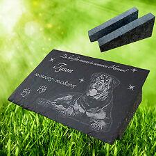 Tiergrabstein Fotogravur Grabstein Schiefer Katze Hund mit der Stütze aus Granit