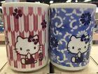 Sanrio Hello kitty Kitchen(SAKURA) Japanese Tea cup Pink/Blue MADE IN JAPAN