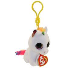 "TY Beanie Boos 3"" PIXY the Unicorn Plastic Key Clip Plush MWMT's w/ Heart Tags"