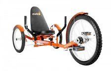 """MOBO Croiseur """"Triton Pro"""" Vélo couché Tricycle - COUCHÉ Orange"""